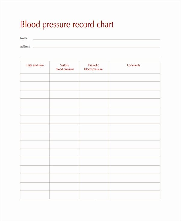 10 Blood Pressure Chart Templates