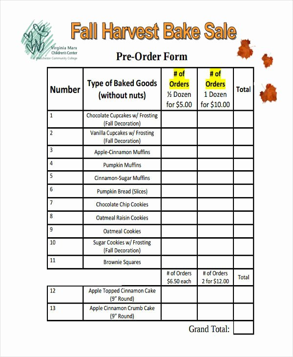 10 Cake order forms Free Samples Examples format
