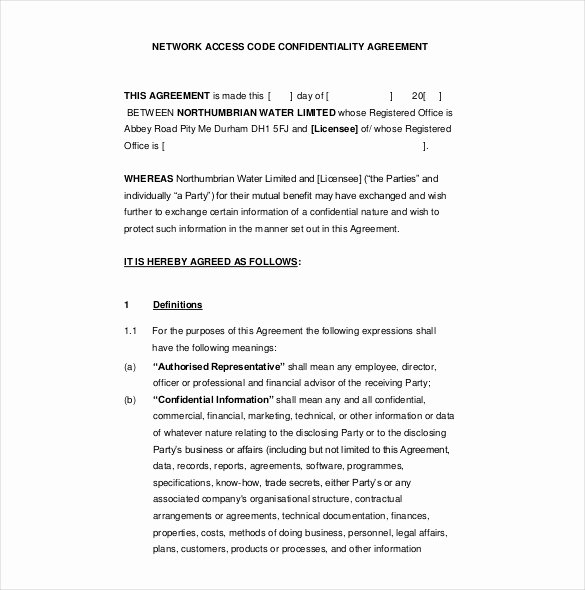 10 Confidentiality Agreement Templates – Free Sample