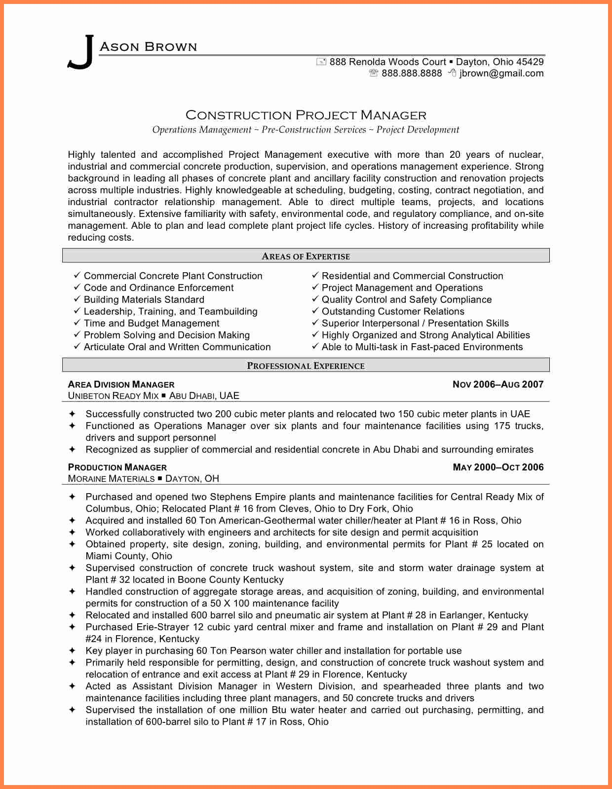 10 Construction Project Management Agreement Template