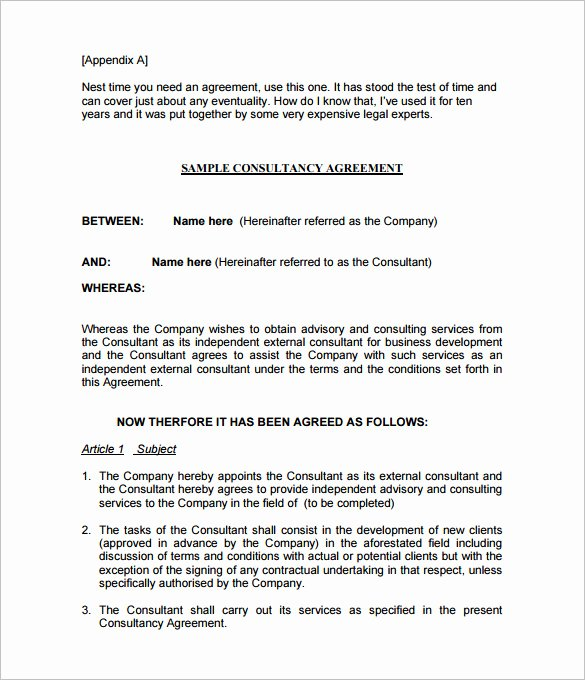 10 Consulting Contract Templates Pdf Doc