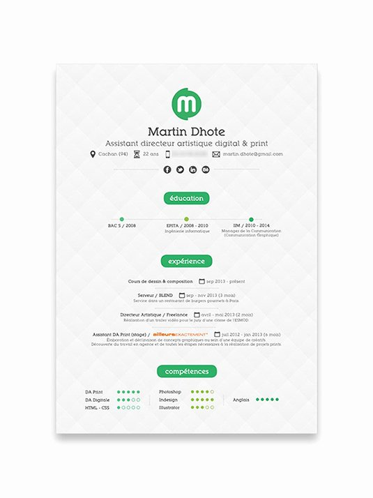 10 Cool Resumes Made by Professional Graphic Designers