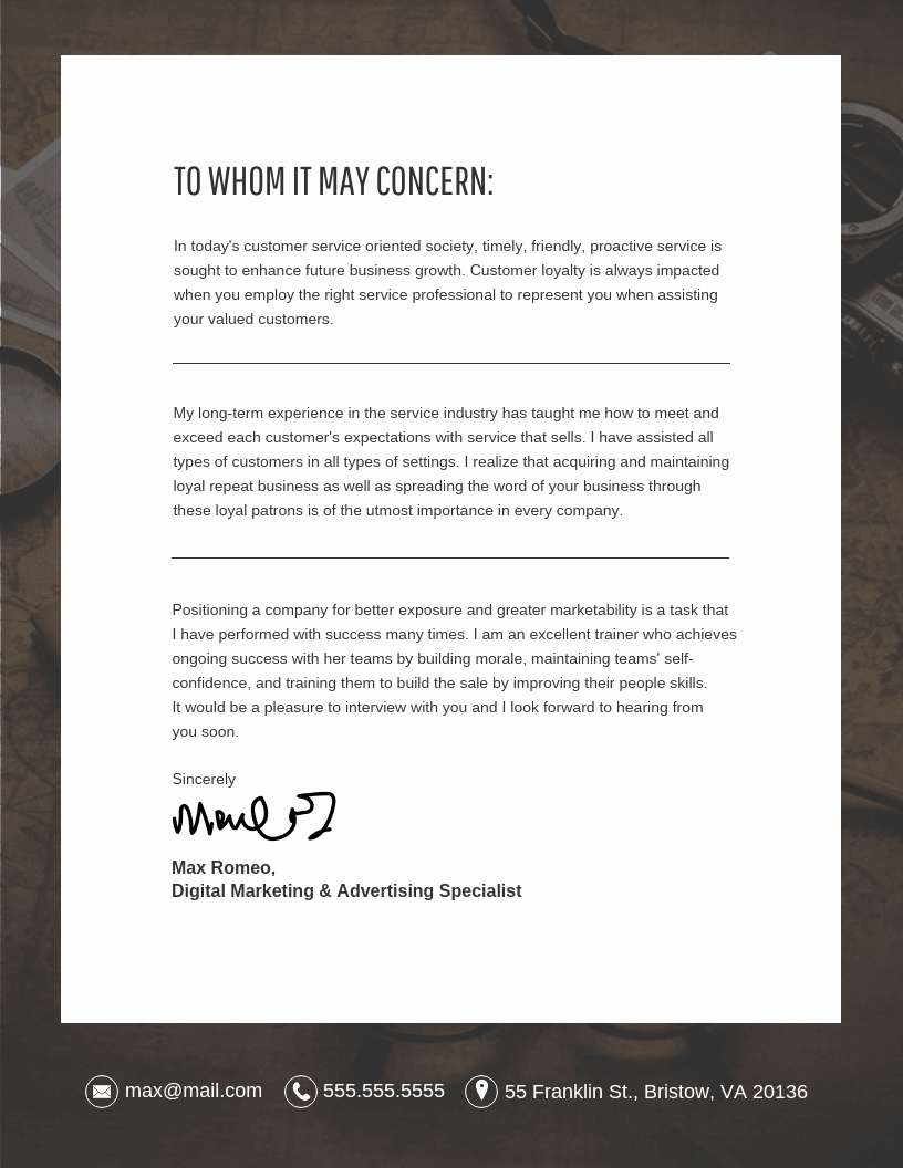 10 Cover Letter Templates and Expert Design Tips to