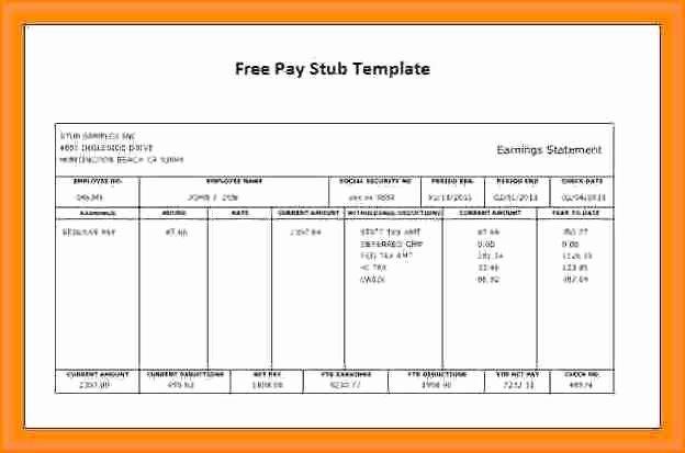 10 Create Paycheck Stub Template Free