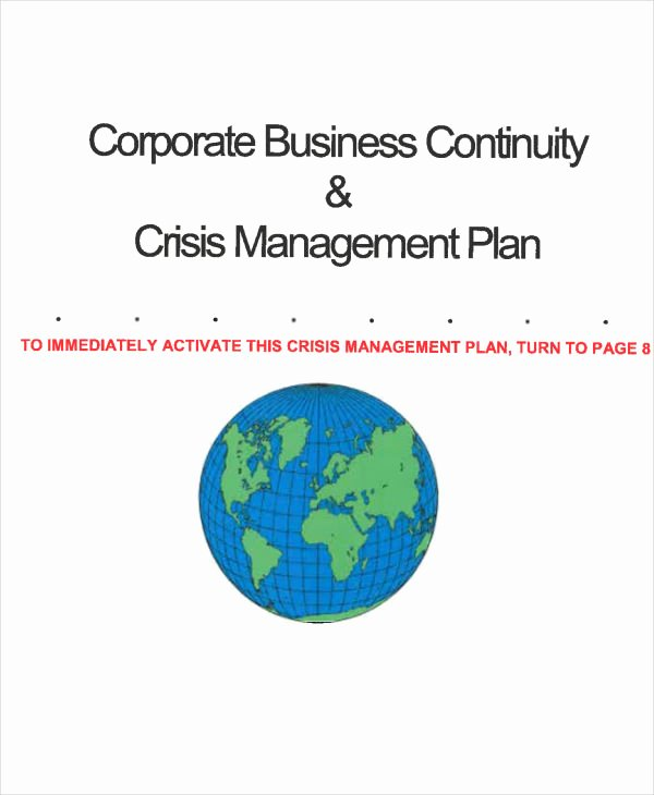 10 Crisis Management Plan Templates Free Sample Example