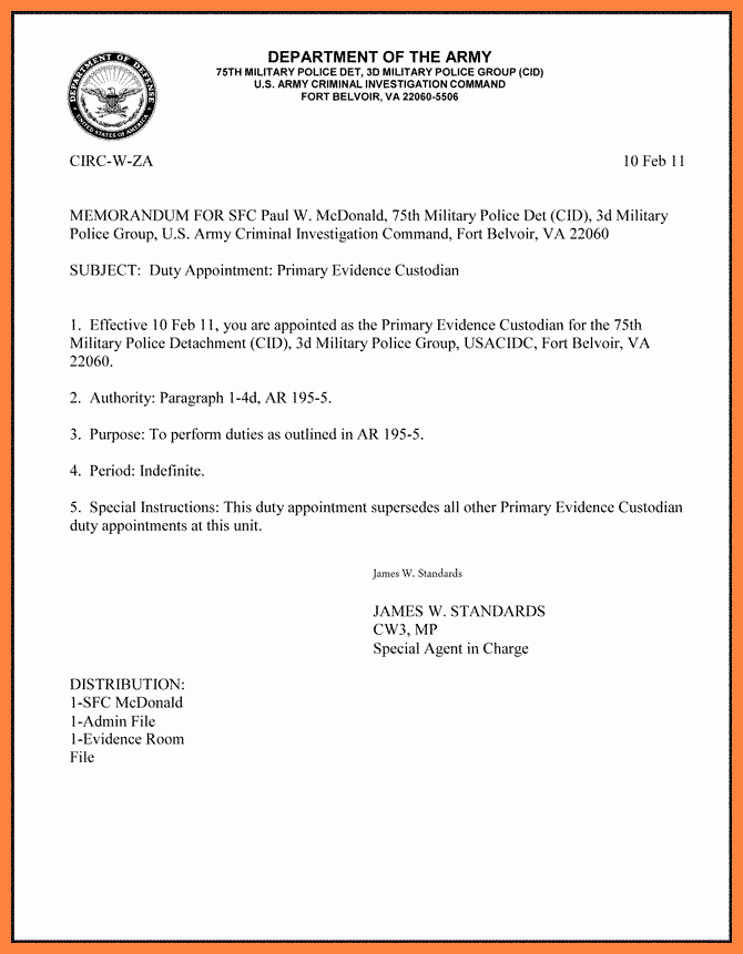 10 department of the air force letterhead template