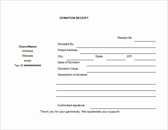 10 Donation Receipt Templates Doc Pdf