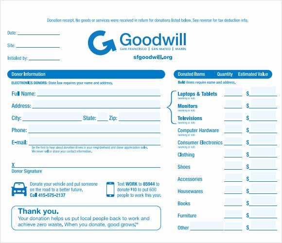 10 Donation Receipt Templates – Free Samples Examples