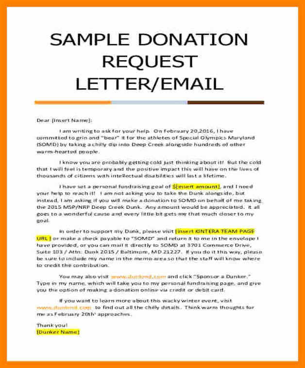 10 Donation Request Letter for Church