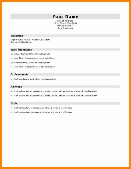 10 Easy Cv Template for Students