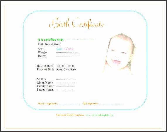 10 Editable Birth Certificate Template Sampletemplatess