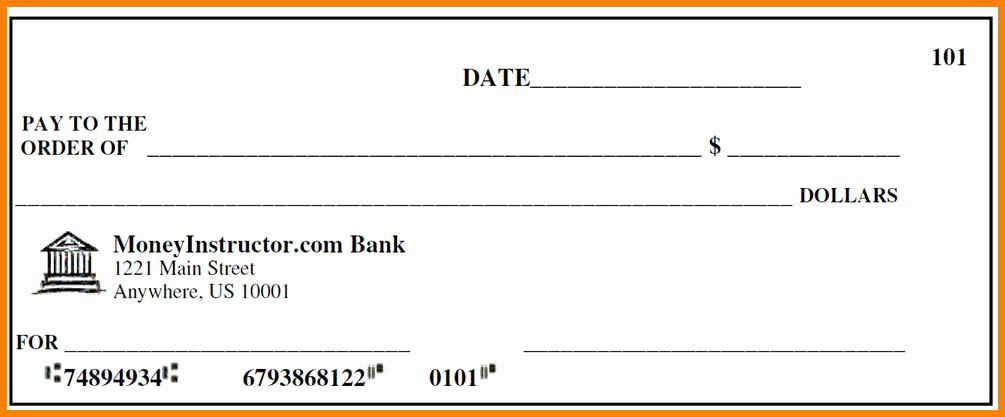 10 Editable Blank Check Template