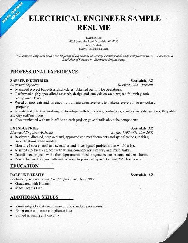 10 Electrical Engineer Resume Sample