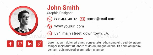10 Email Signature Templates HTML Files Included by Hyov