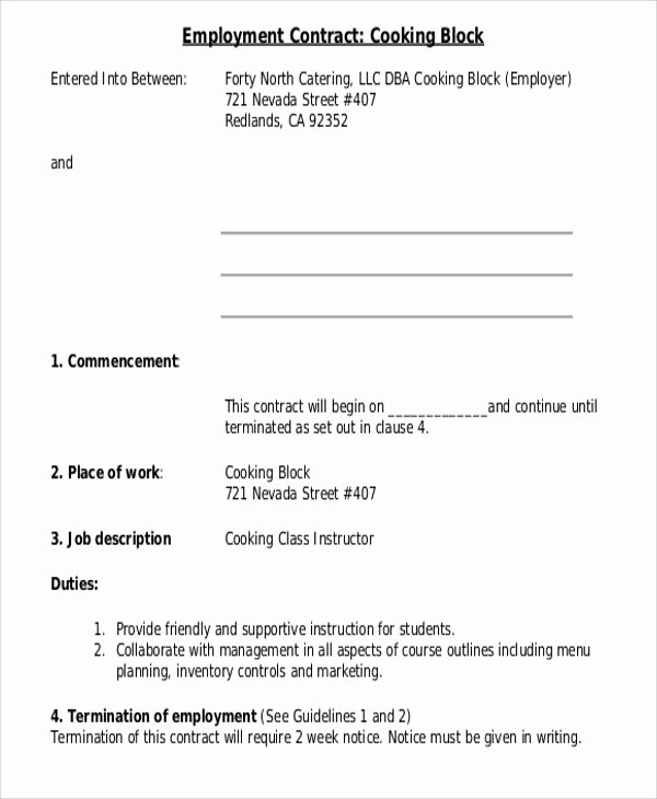 10 Employee Contract Templates Word Docs Pages