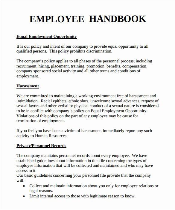 10 Employee Handbook Sample Templates