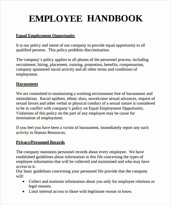 10 Employee Handbook Sample Templates
