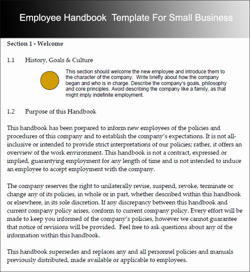 10 Employee Handbook Templates Free Word Pdf Doc Samples