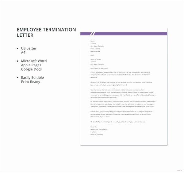 10 Employee Termination Letter Templates Doc Pdf Ai