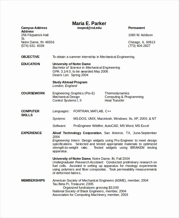 10 Engineering Resume Template Free Word Pdf Document
