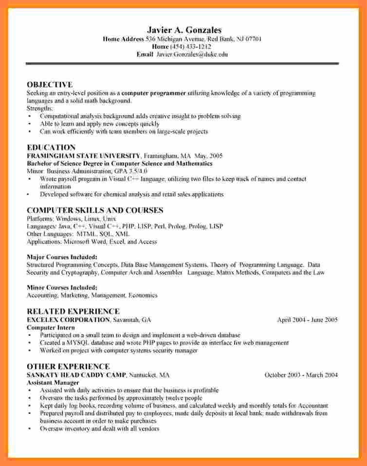 10 Entry Level Data Scientist Resume