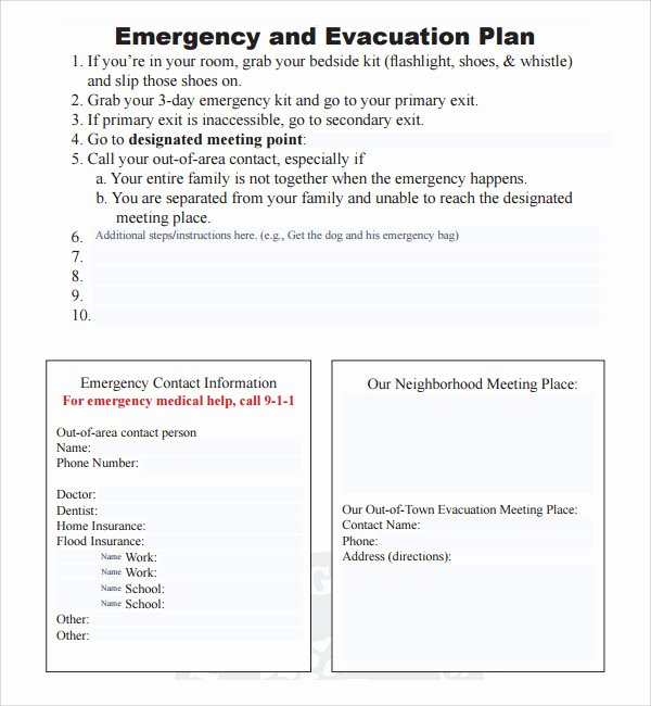 10 Evacuation Plan Templates