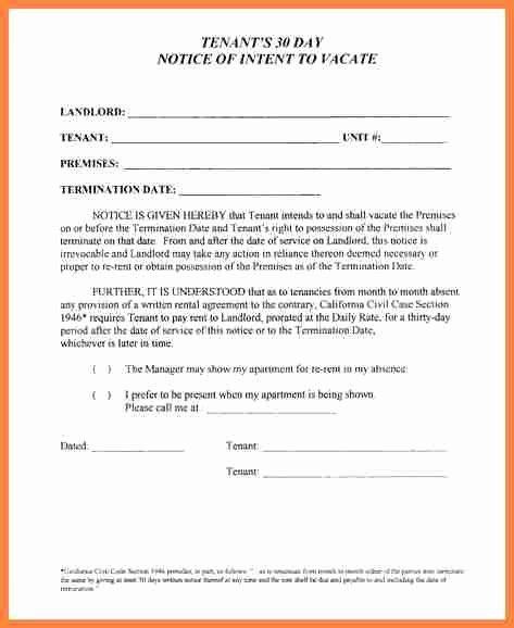 10 Example Of 30 Day Notice to Tenant