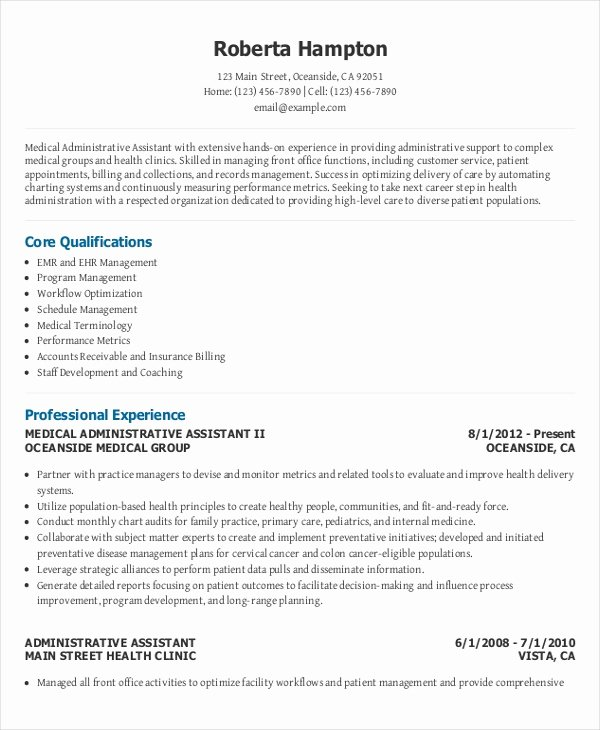 10 Executive Administrative assistant Resume Templates