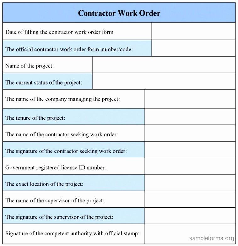 10 Extra Work order Template Eayoe