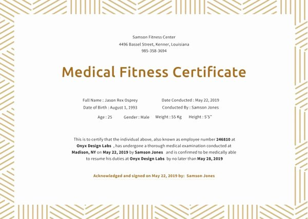 10 Fitness Gift Certificate Templates Doc Pdf