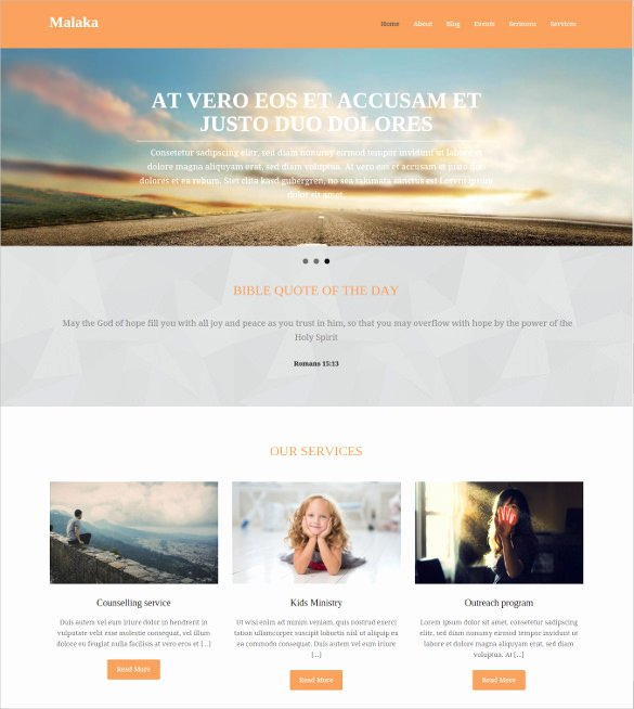 free church website templates
