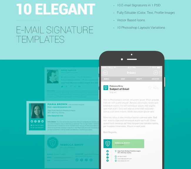 10 Free Email Signature Templates HTML Css
