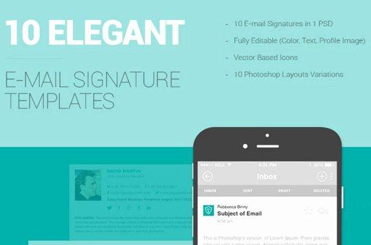 10 Free Email Signature Templates