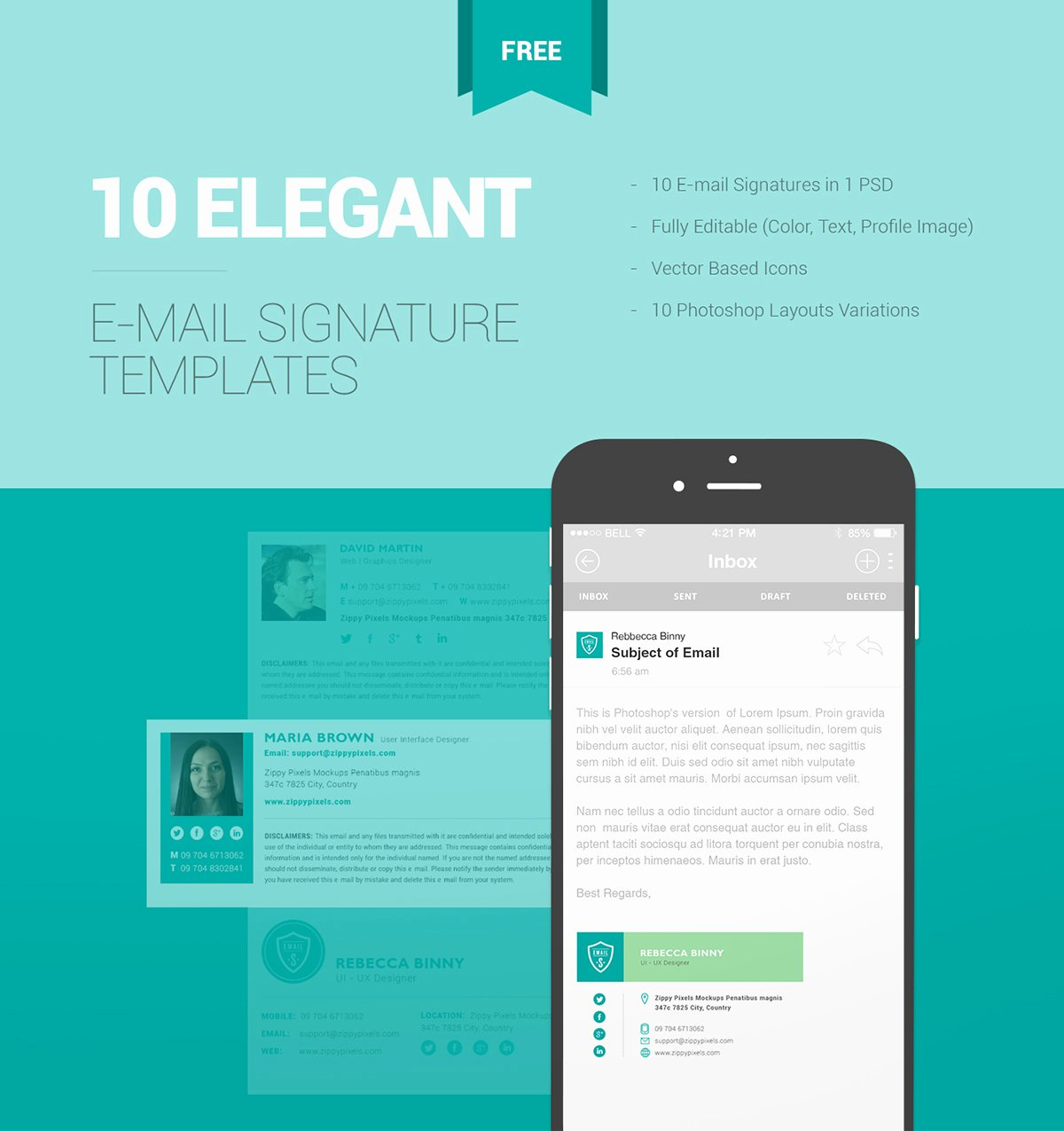 10 Free Email Signature Templates with Elegant Designs On