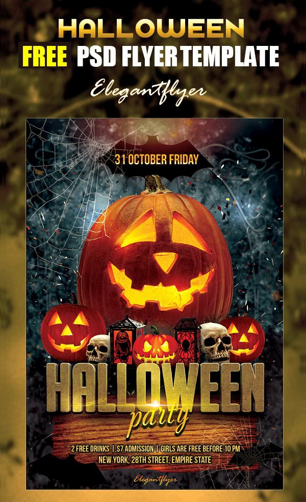 10 Free Psd Halloween Party Flyer Designs
