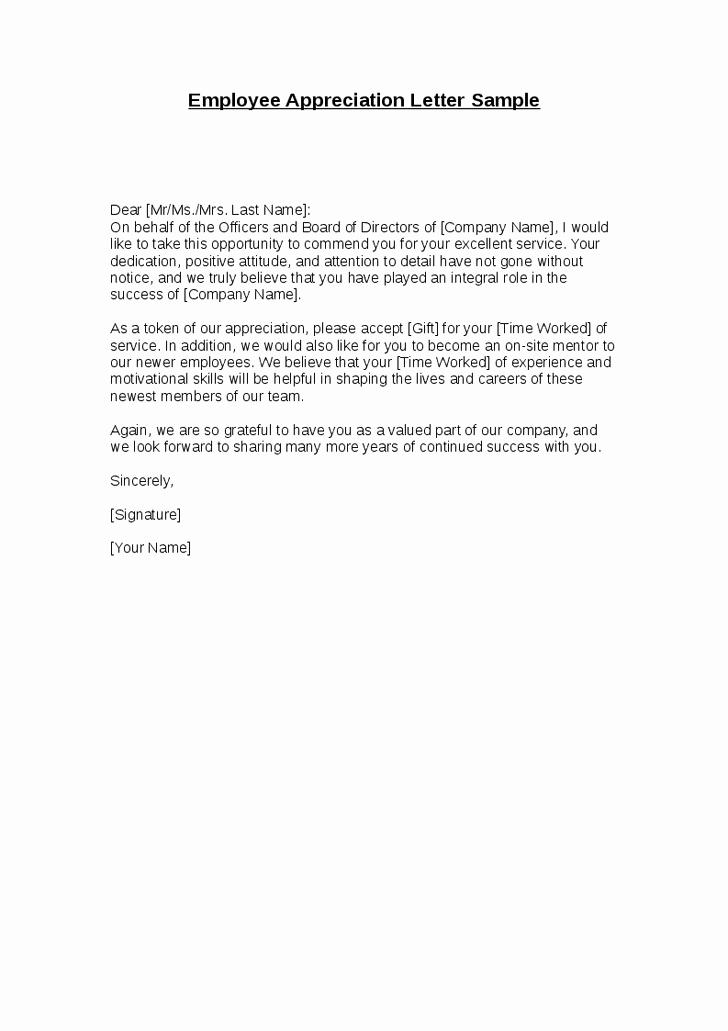 10 Free Sample Appreciation Letters Samplebusinessresume