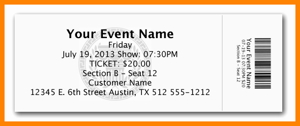 10 Free Ticket Template