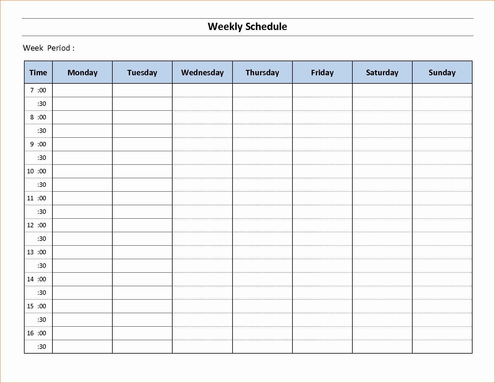 10 Free Weekly Schedule Template