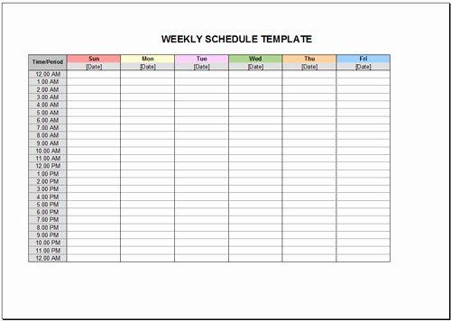 10 Free Weekly Schedule Templates for Excel Savvy