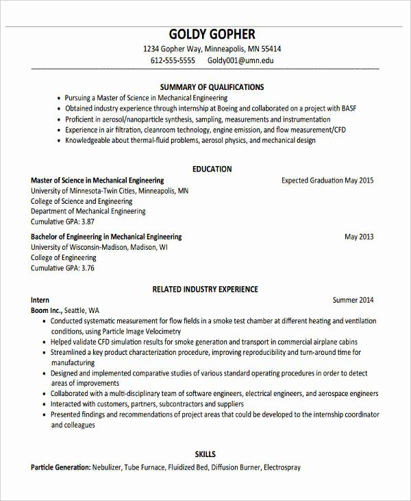 10 Fresher Resume format Templates Pdf Doc