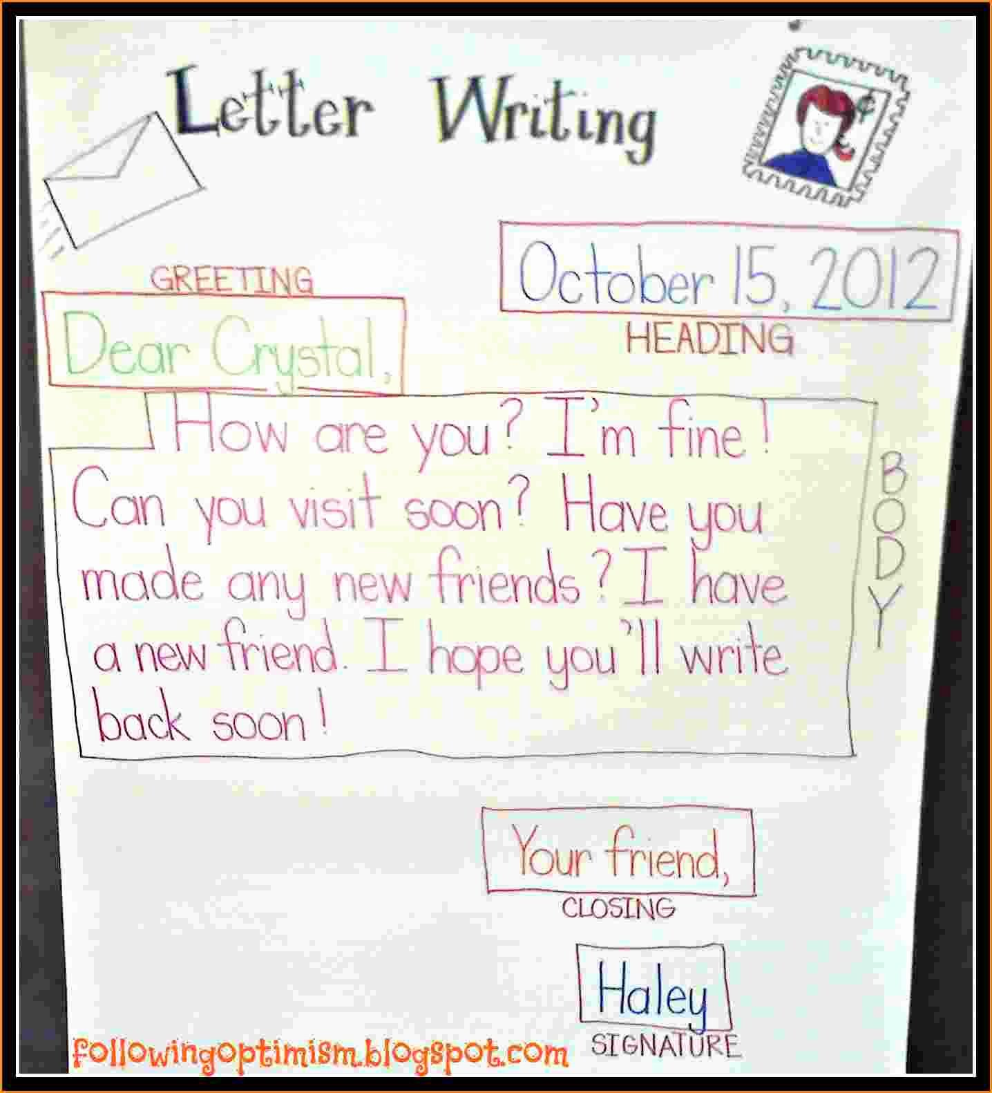 10 Friendly Letter Template for Kids