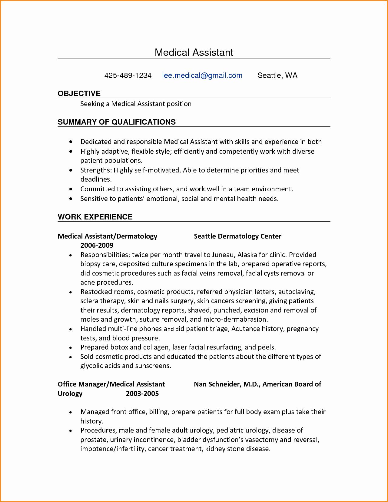 10 Front Desk for Medical Office Resume