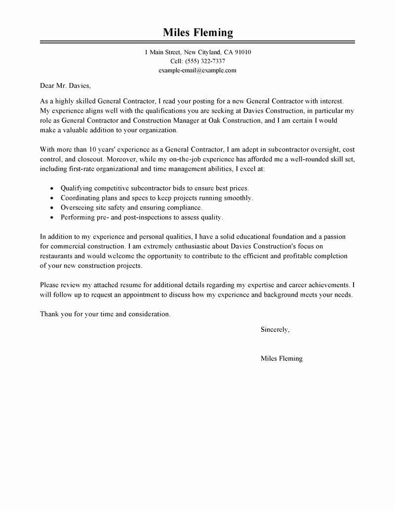 10 General Cover Letter Sample Samplebusinessresume