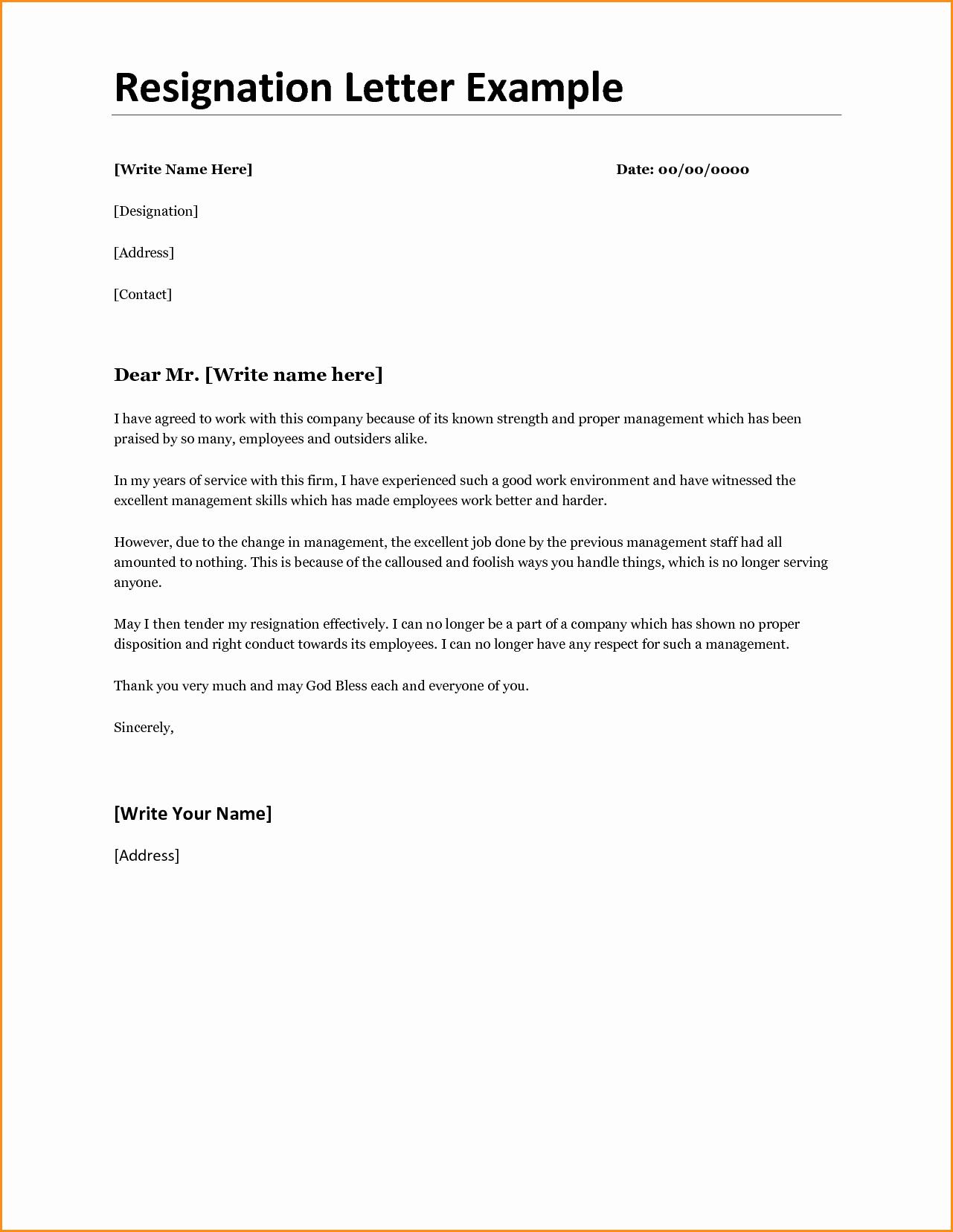 10 Good Resignation Letter