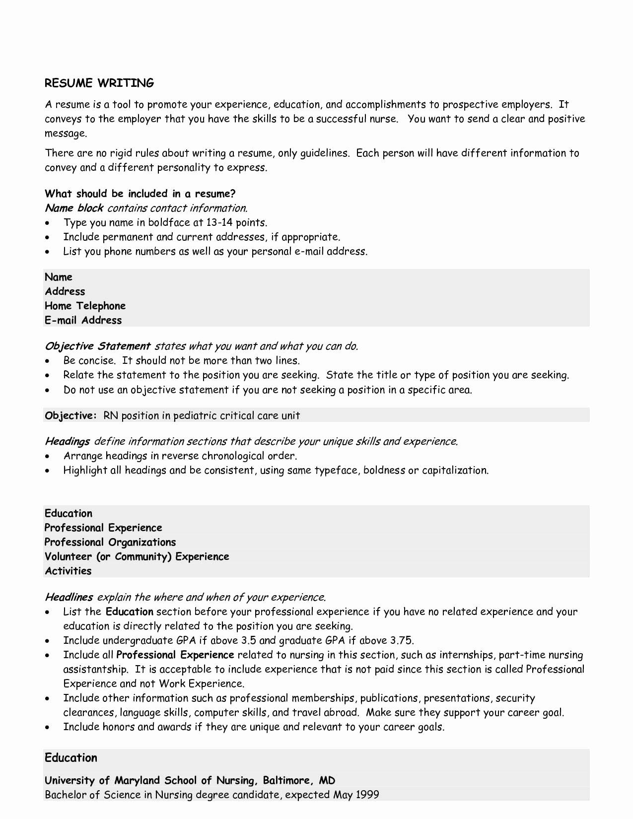 10 Great Good Resume Objectives Samplebusinessresume