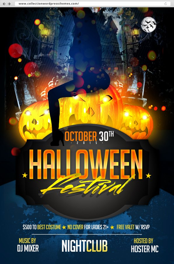 10 Halloween Amazing Flyer Free Psds – Best Wordpress