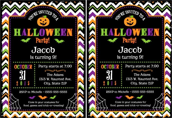 10 Halloween Invitation Templates