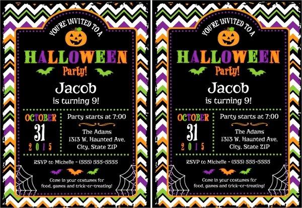 10 Halloween Invitation Templates