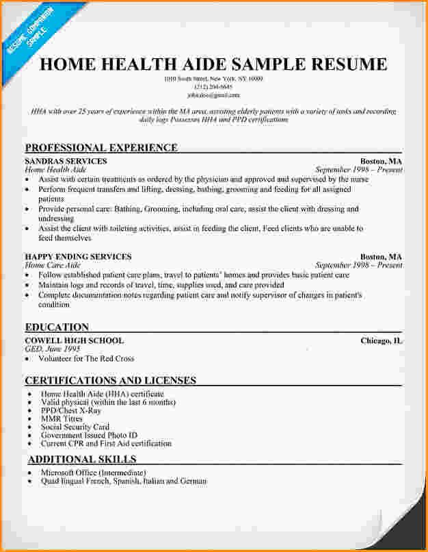 10 Health Care Aide Resume Cover Letter