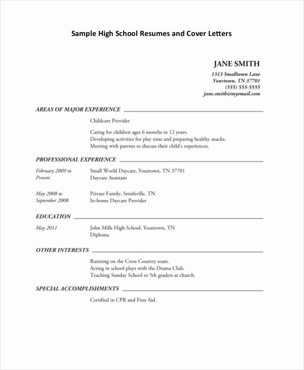 10 High School Student Resume Templates Pdf Doc